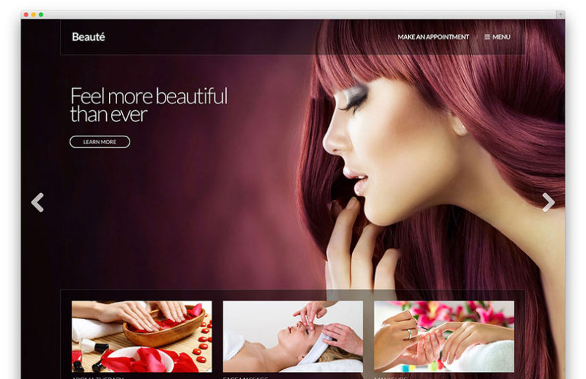 20 plus beautiful spa beauty salon hair salon massage shop set of the best premium wordpress themes best for hair salons health and fitness well being centers spa and other health and beauty related websites urmus Images