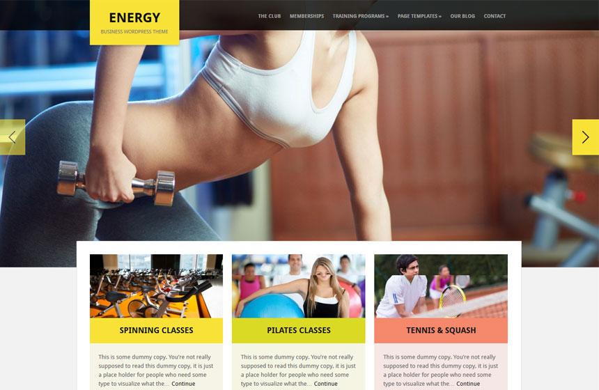 WordPress Fitness Themes