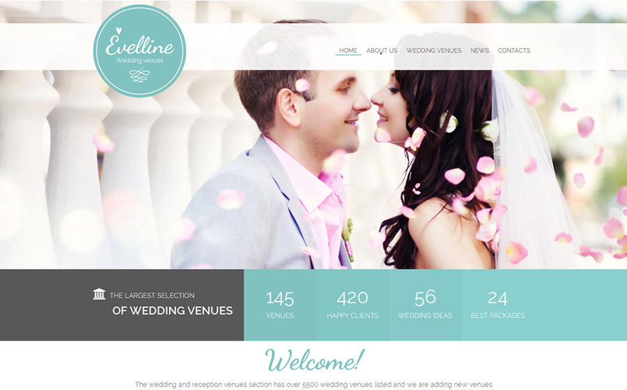 Wedding Venues Website Template