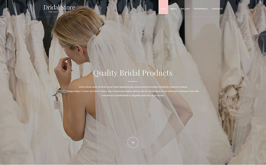 Bridal Shop Web Template