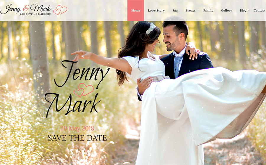 Wedding Invitation - Couple Event & Celebration Website Template