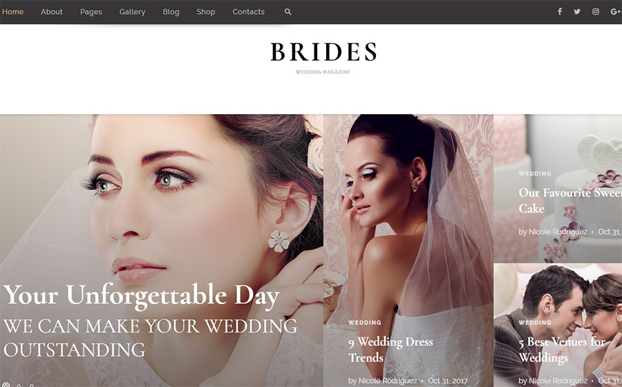 Wedding Magazine Multipurpose HTML Theme