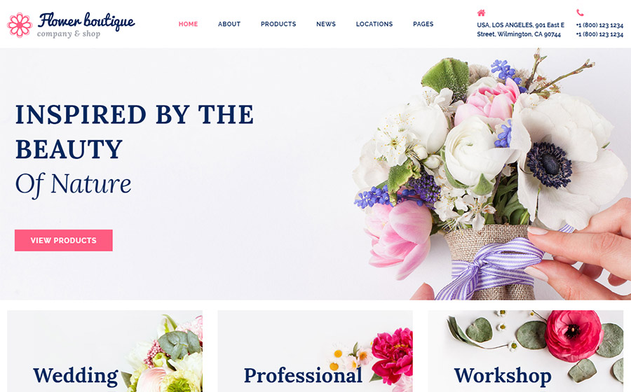 Flower Boutique Multipage HTML5 Template