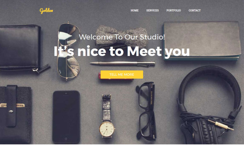 golden-one-page-html-template